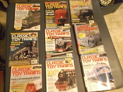 Lot Of 11 Classic Toy Train Magazines 2001 To 2003 Plus 2 Mth Handbooks