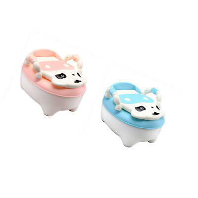 2pcs Easy Clean Kids Toddler Bear Potty Training Chair Seat Removable Lid