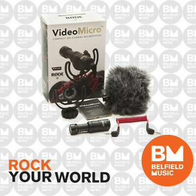 Rode VideoMicro On-Camera Cardioid Condenser Video Micro Microphone &Wind Shield