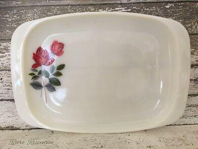 VINTAGE JAJ Pyrex - June Rose - Serving Platter - Large