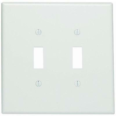 Box of 25 Leviton 88109 2-Gang Toggle Device Switch Wallplate Oversized White