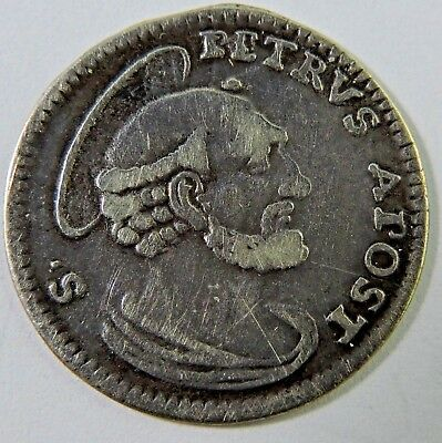 Papal States 1740 1 Grosso Silver Coin