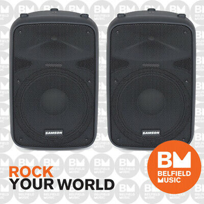 2 x Samson AURO X15D Powered Speaker 15'' 1000 Watt Pair