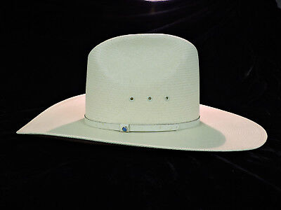 Resistol Size 7R Natural Shantung Cowboy Hat w/ Box - Ostrich Band - NEW