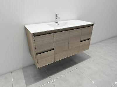 Melbourne 1200X520X580Mm Deep Wooden Bathroom Wall Hung Vanity Stone Top, Bv16Um