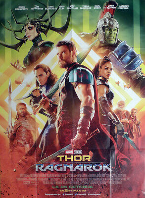 Thor Ragnarok - Marvel / Superhero / Hulk - Original Large French Movie Poster