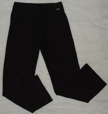 Nike Dri Fit Yoga Pants Womens Black Gym Athletic Style Size Small