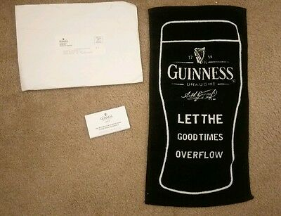 Guinness beer towel.  Brand new and shipped from Guinness with envelope and card