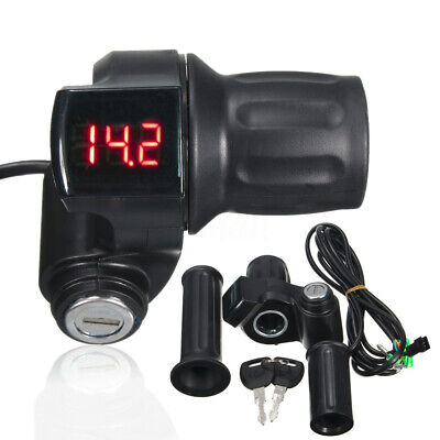 12-99V Gasgriff E-bike Elektro-Scooter Drehgriff Griff Lenker LED Digital Meter
