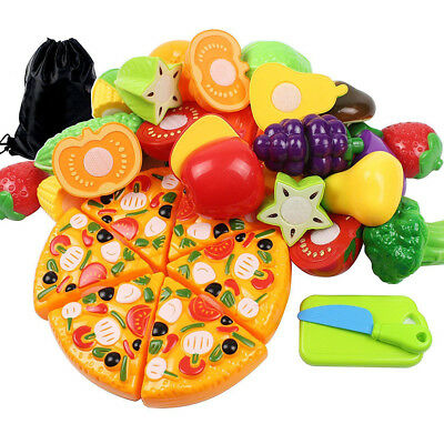 Cut Food Fruits and Vegetables Mushrooms Pretend Play Children Toys for Kids