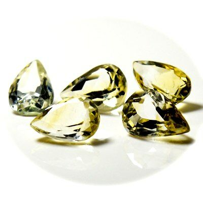 18.65 Ct 5 Pcs Citrine Stone Pear Original Natural Loose Gemstone Lot 5JA