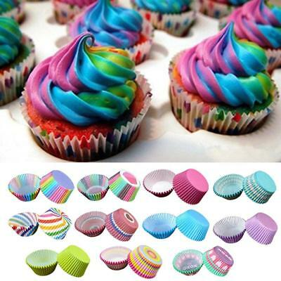 100pcs Paper Cake Baking Cups Liner Muffin Cupcake Cases Wedding Party Moldb