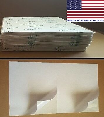 4000 8.5 X 5.5 Value Half Sheet Self Adhesive Shipping Labels 2/sheet MADE N USA
