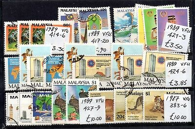 Malaysia 1987-1989 VFU collection Good Cat Value WS5941