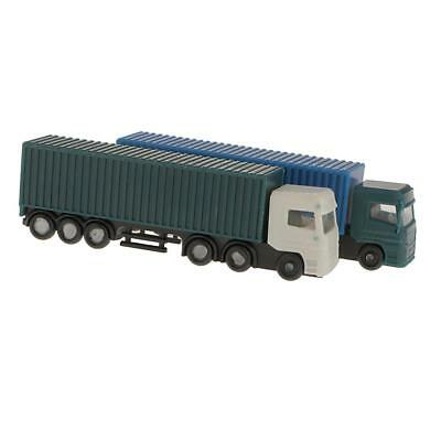 2Pcs Model Container Truck Figure 1:150 N Scale Building Scenery Layout New