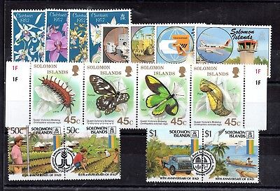 Solomon Islands 1987 collection 4 x MNH sets WS5956