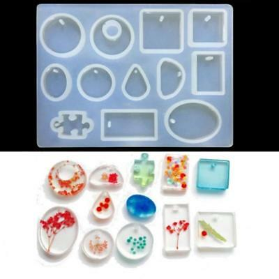 Silicon Resin Casting Pendant Mold Jewelry Mould DIY Craft Making EB