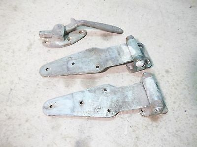 Old Pair Koch Ice Box or Butchershop Cabinet Hinges & Handle Latche