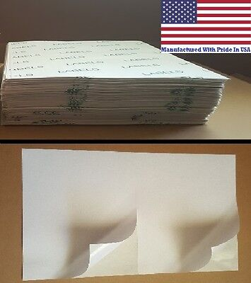 5000 8.5 X 5.5 Value Half Sheet Self Adhesive Shipping Labels 2/sheet MADE N USA