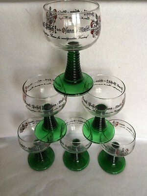 12 Vintage Boxed JG Durand Advertising French Romer Glass Luminarc/Arques France