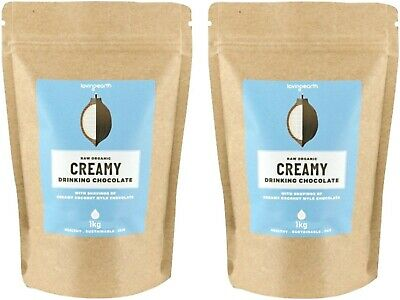2 x 1kg LOVING EARTH Creamy Drinking Chocolate ( total 2kg )