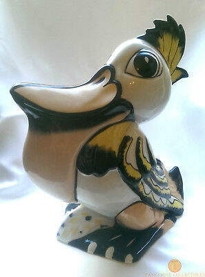 "SIGNED Lorna Bailey PEDRO THE PELICAN Large 10"" Bird Old Ellgreave Pottery"
