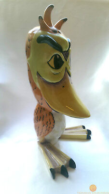 "SIGNED Lorna Bailey QUACKERS Large 10.5"" Bird Old Ellgreave Pottery"