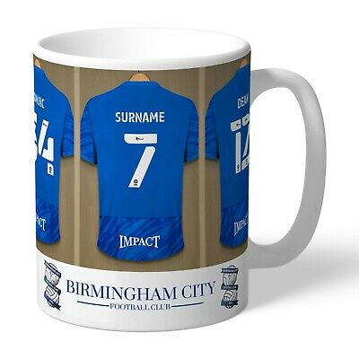 Personalised Birmingham City Football Club FC Dressing Room Mug Gift