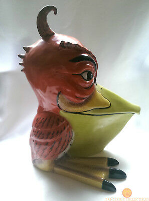 "SIGNED Lorna Bailey SPIKE THE PELICAN Large 9"" Bird Old Ellgreave Pottery"