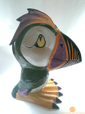 "SIGNED Lorna Bailey PERCY THE PUFFIN Large 8.5"" Bird Old Ellgreave Pottery"