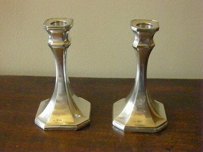 Pair SILVER Candle Sticks 1913/1914 CHESTER hallmarks