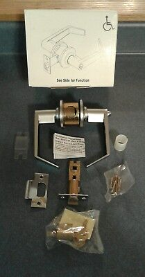 NEW Yale Commercial Grade 2 Entrance Door Lever Handle Set w Cylinder and Key