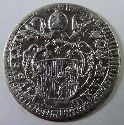 Papal States Undated 1770's 1 Grosso Silver Coin