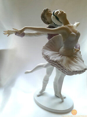 Kaiser Porcelain West Germany SWAN LAKE Limited Edition Figurine W. Gawantka