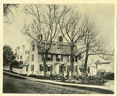 Victorian Family, Children Posing  In Front Of House & Great Vintage Photo