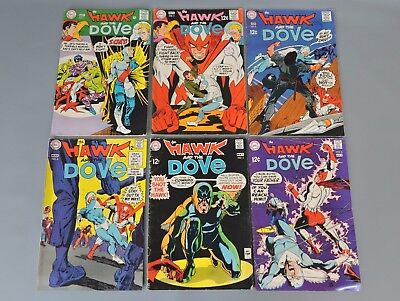 DC Comics: Issues 1-6 'The Hawk and the Dove' Comic Books 1968-1969