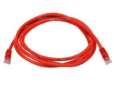 Cat6 Ethernet Patch Cable Network RJ45 Stranded UTP Crossover 24AWG 7ft Red