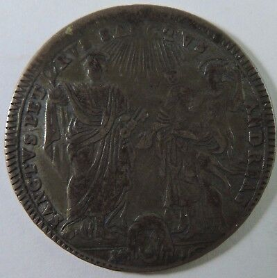 Papal States 1796 30 Baiocchi Silver Coin
