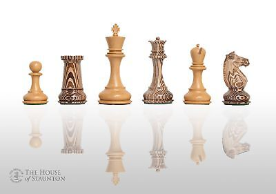 "The Challenger Series Luxury Chess Set - Pieces Only - 4.4"" King - Natural Boxwo"