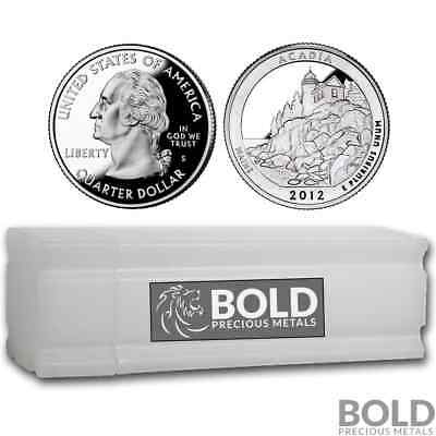 2012-S Silver Proof ATB Quarter Roll (40 Coins) - ACADIA