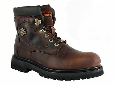 Harley Davidson BAYPORT Men's Motorcycle Work Lace Up Brown Leather Boot