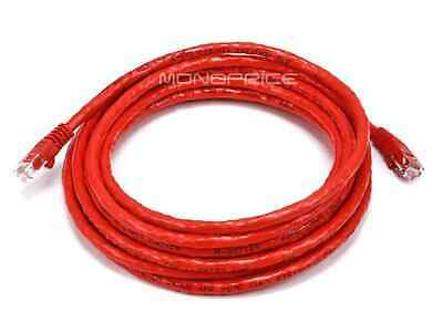Cat6 Ethernet Patch Cable Network RJ45 Stranded UTP Crossover 24AWG 14ft Red