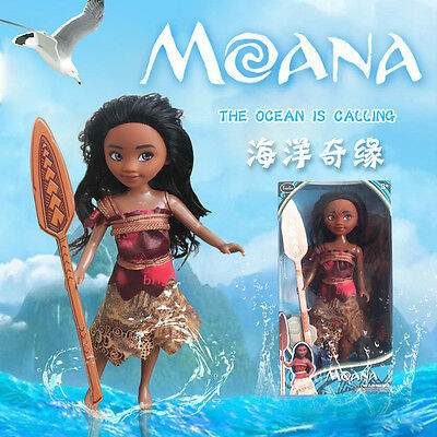 "1PC Moana Princess 9"" Classic Doll Collection Figure Disney Store Girls Toy Gift"