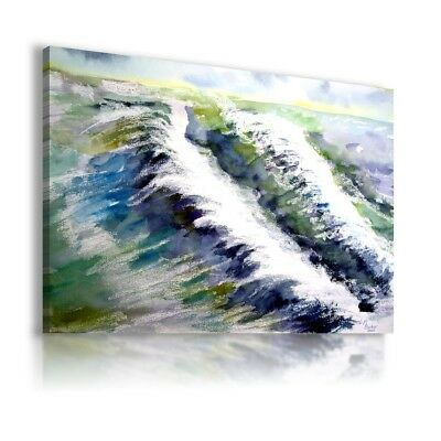 Oil Painting Ocean Waves Sea Print Canvas Wall Art Picture Large Ws10 X Mataga