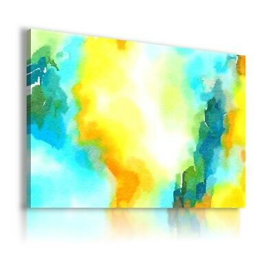 Painting World Watercolor Pattern Print Canvas Wall Art Picture Large Ws7 Mataga