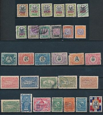 Dominican Republic **30 DIFFERENT (1895-1927)** MH, UNUSED & USED; MOSTLY SOUND