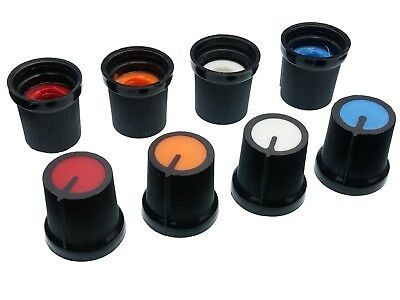 4 Colours Plastic Pot Knobs for 6mm Potentiometer / Rotary Switch / Encoder