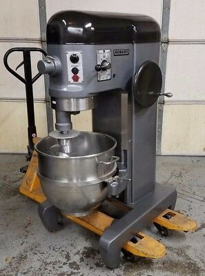 Hobart H600T 60 Qt Mixer With Timer 1HP 208v 3 Phase - Stainless Bowl + New Hook