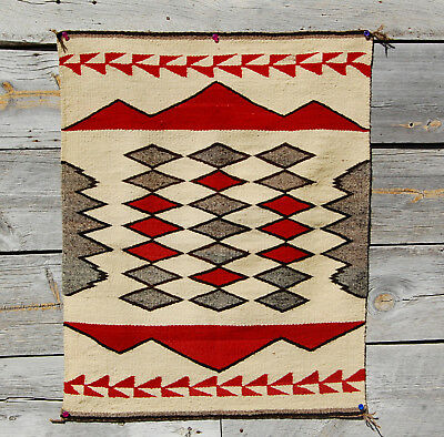 30s CHURRO CHINLE DIAMONDS NAVAJO RUG 45x36 Indian blanket Ranchfolks Offered he