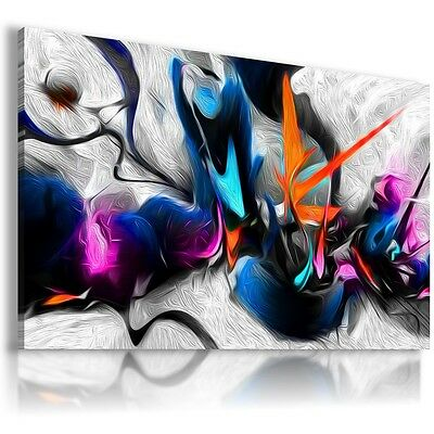 PAINTING WAVES ABSTRACT DESIGN Print Canvas Wall Art Picture  AB224 MATAGA .